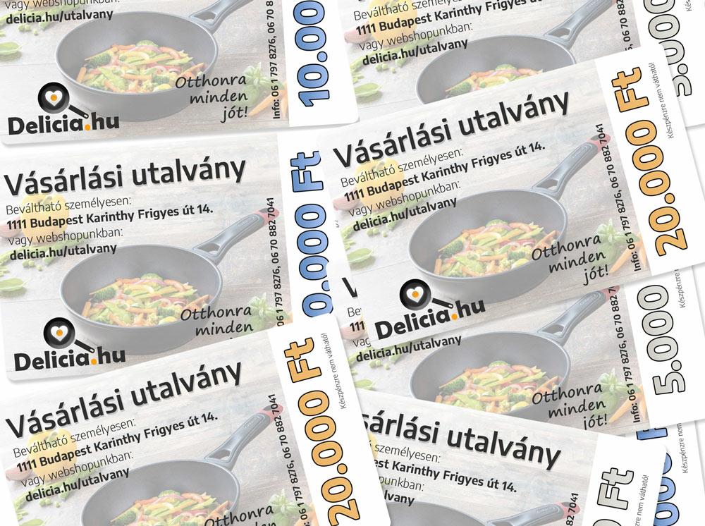 Vásárlási utalványok - delicia.hu